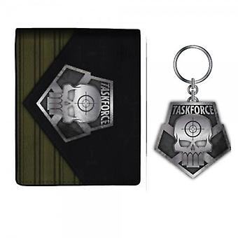 Wallet - Suicide Squad - Task Force X /Keychain Set New Licensed xw4an5ssq