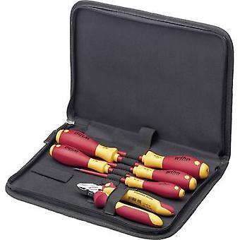 WIHA VDE 9300-018 33969 sähkö-urakoitsijat työkalu pakki laukku 6-osainen