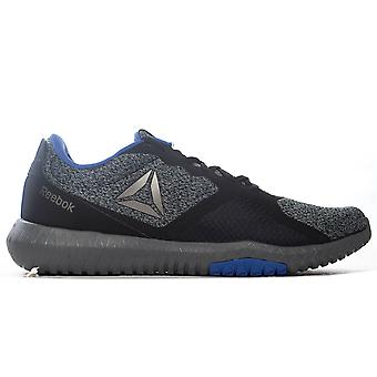 Reebok Flexagon Force Mens Adults Fitness Training Shoe Black/Blue