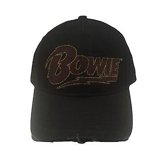 David Bowie Flash Logo vintage frayed distressed new Official Baseball Cap