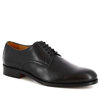 Leonardo schoenen mannen ' s handgemaakte elegante Oxford schoenen in zwart kalf leer