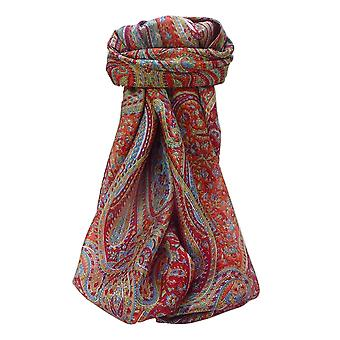 Mulberry Silk Traditional Square Scarf Quiara Scarlet by Pashmina & Silk