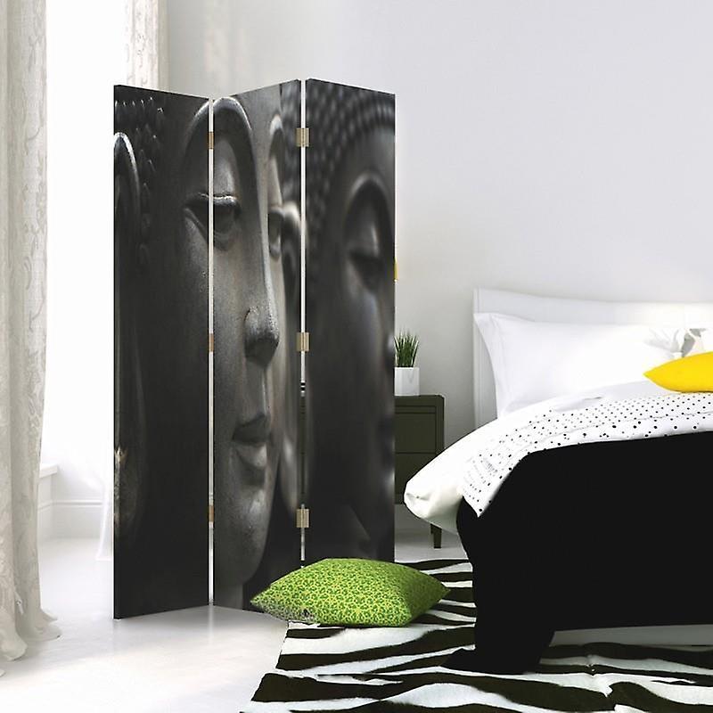 Diviseur de chambre, 3 panneaux, à un seul côté, toile, Bouddha 7