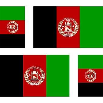 4 X Sticker Sticker Sticker Car Motorcycle Valise Pc Portable Flag Afghanistan Ref2