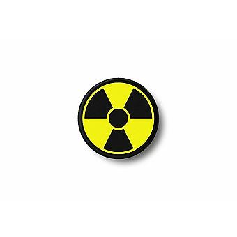 Patch Ecusson Brode Imprime Thermocollant Radioactif Symbol Nucleaire Radiation