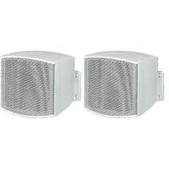 Monacor MKS-26/WS Wall speaker 20 W 8 Ω White 1 Pair