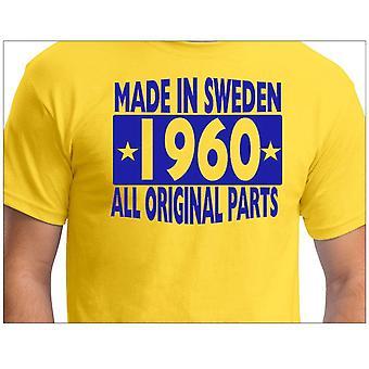 Gele T-shirt gemaakt in Zweden 1960 alle originele onderdelen