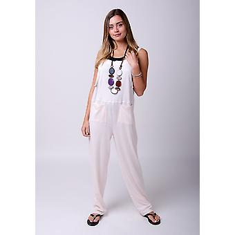 Mabel tricot jumpsuit in roze
