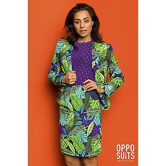 Juicy Jungle Jane Tropical Women's Costume Opposuit Slimline 2-piece Premium