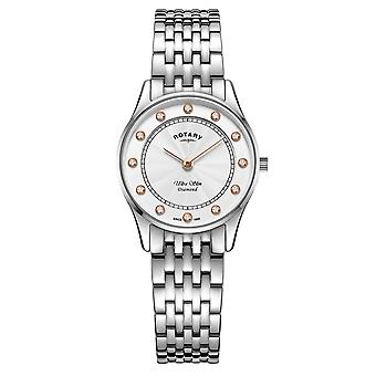 Rotary LB08300-01-D Women's Ultraslim Diamond Wristwatch