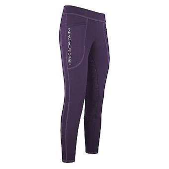 Imperial Riding Like A Pro Womens Riding Tights - Deep Purple