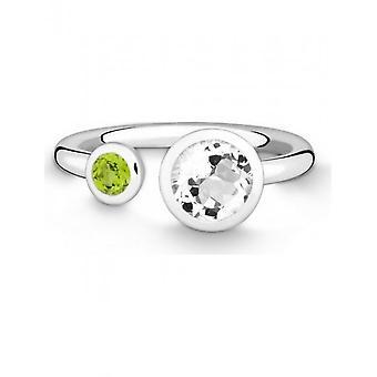 QUINN - Ring - Damen - Colors - Silber 925 - Weite 56 - 021024620