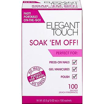 Elegant Touch Soak Em Off - Peach Fragrance (100 Sachets) (4014026)