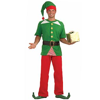 Natal Jolly Elf Santa & apos;s Helper Papai Noel Men Traje STD