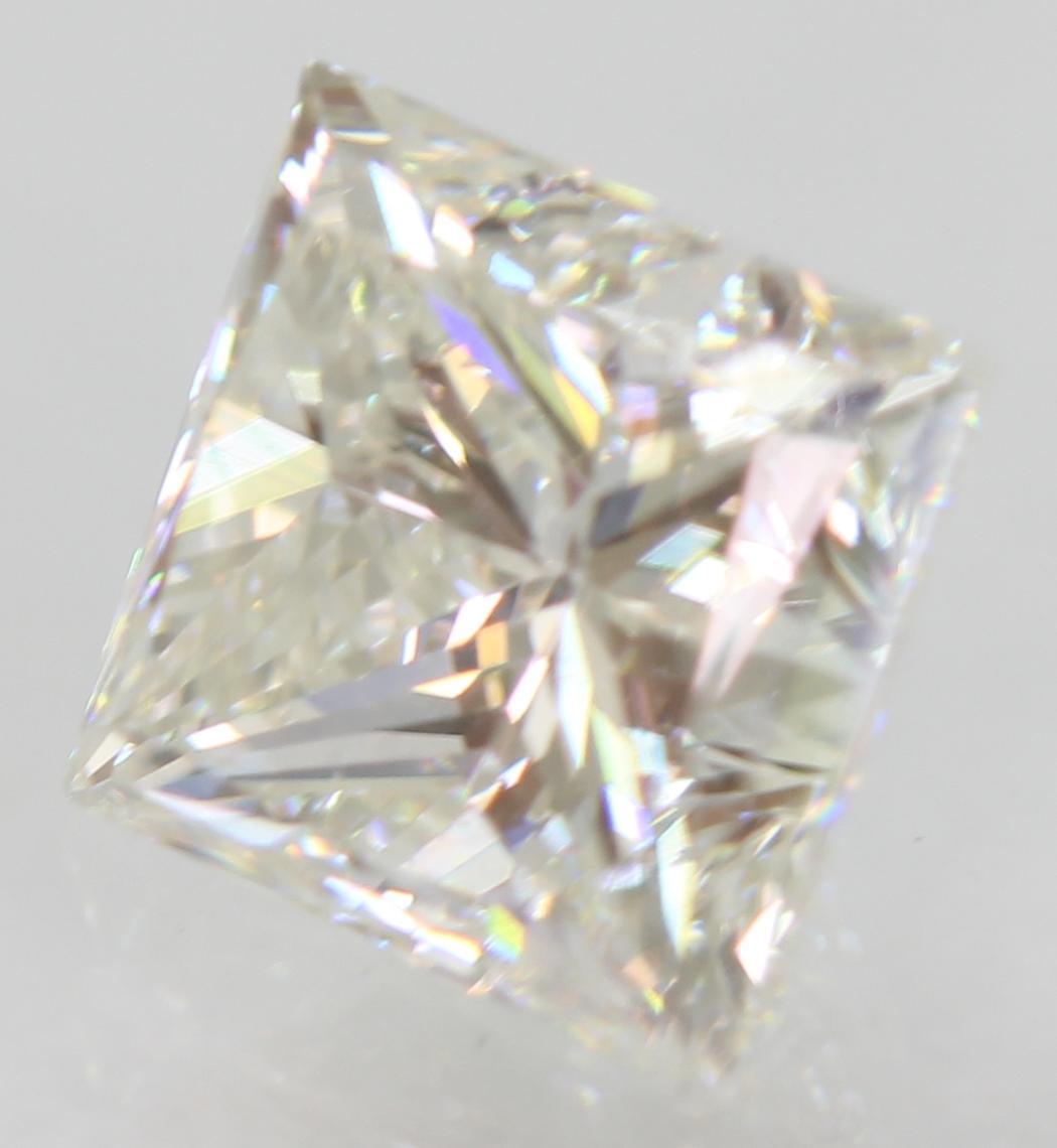 Certified 0.95 Carat F VVS2 Princess Enhanced Natural Loose Diamond 5.33x4.98mm