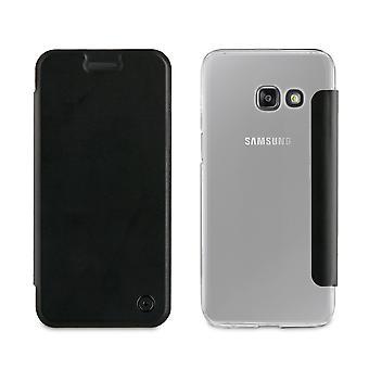 Galaxy A3 Case (2017) Folio Noir - Muvit