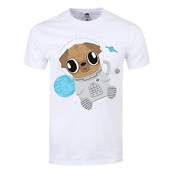 Grindstore Hombres Pugs En El Espacio Camiseta