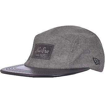 New Era Mens Chambray Camper Skater Style Claspback Baseball Cap - Grey