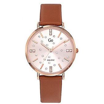 Watch Go Girl alleen 699283-stalen doos dor roze vrouwen bruin siliconen armband