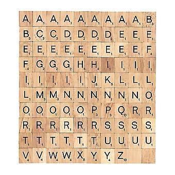 Scrabble fliser træ trykte alfabeter & numre udskiftning Scrabble bogstaver