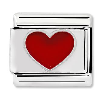 Nomination Classic Honolulu Red Heart Link Charm 330202/17