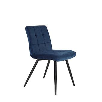 Light & Living Dining Chair 49x57x84cm Olive Velvet Blue