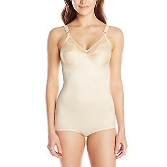 Rago Women's Light Shaping Body Suit, Beige, 34B, Beige, Size 34B