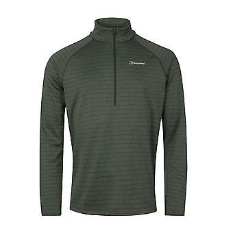 Berghaus Thermal Tech 1/2 Zip Mens Long Sleeve Outdoor Baselayer Shirt Khaki