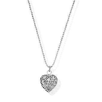 ChloBo Diamond Cut Chain With Filigree Heart Pendant