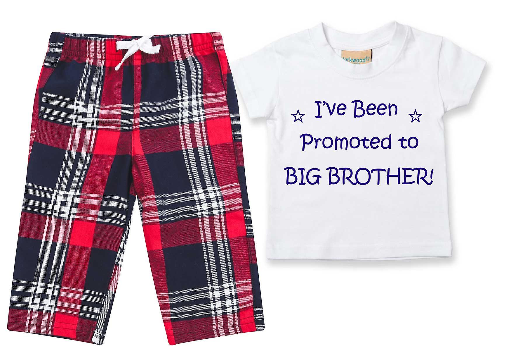 I've Been Promoted To Big Brother Tartan Trouser Pyjamas