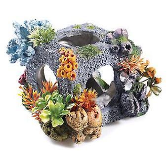 Klassiker för husdjur Med Cubic Habitat 175mm (fisk, dekoration, prydnadsföremål)