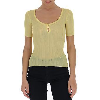 Jacquemus 201kn2020152250 Women's Yellow Viscose T-shirt