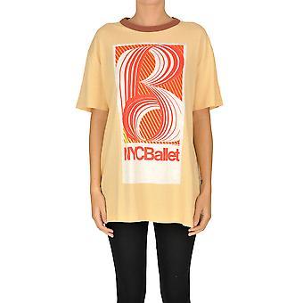 Acne Studios Ezgl151043 Damen's Orange Baumwolle T-shirt