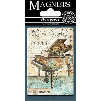 Stamperia Musiikki Piano 8x5.5cm Magneetti