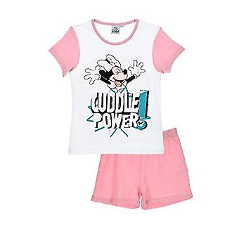 Disney minnie mouse girls pyjama short sleeve set