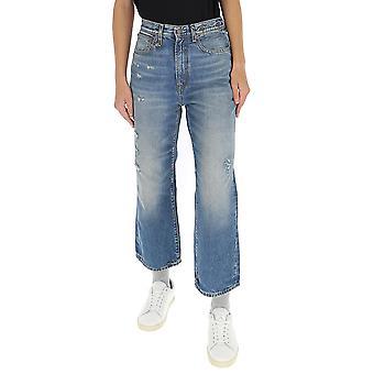 R13 R13w6450438 Women's Light Blue Cotton Pants