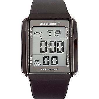 Todos los negros 680034, reloj de pulsera de los hombres