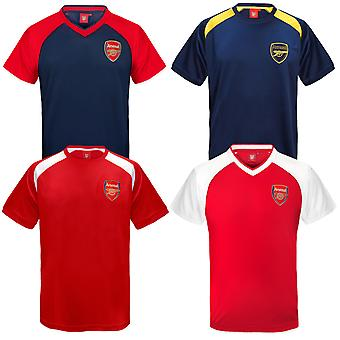 Arsenal FC Official Football Gift Boys Poly Training Kit T-Shirt