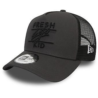 Fresh Ego Kid Mesh Trucker Baseball Cap Charcoal 59