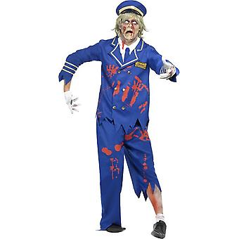 Zombie vermomming kapitein van de Halloween man Air