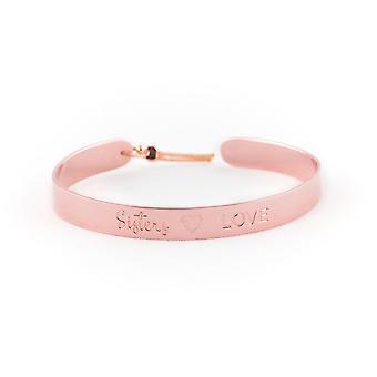 Jonc Ley Nat 7 mm 'sisters love'quot; pink dor