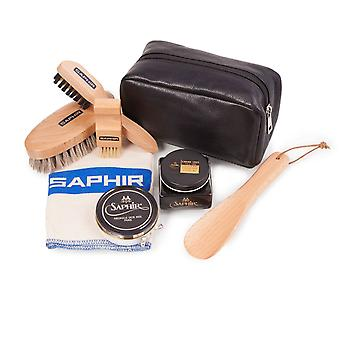 Saphir Premium Shoecare Cleaning Kit Set B - Leather Gift Bag