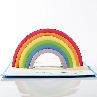 Cardology Rainbow Pop Up Card