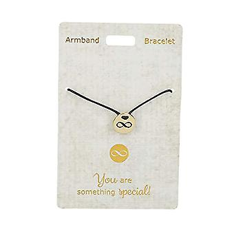 Depesche 4704.9 Bracelet - Just for You - with Nylon Band - Infinite Symbol - Gold