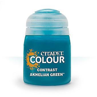 Contraste: Akhelian Green (18ml), Citadel Paint Contrast, Warhammer 40,000