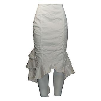 K Jordan Skirt Faux Leather Back Zippered Flounce Black