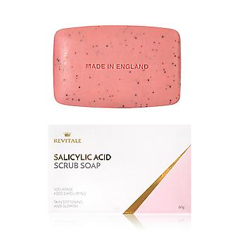 Salicylic Acid Scrub Soap Pore Exfoliating, Acne Softening Skin, Anti-Blemish