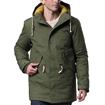 Allthemen Mens Casual Slim Fit Thick Mid-Long Style Cotton Coat Winter