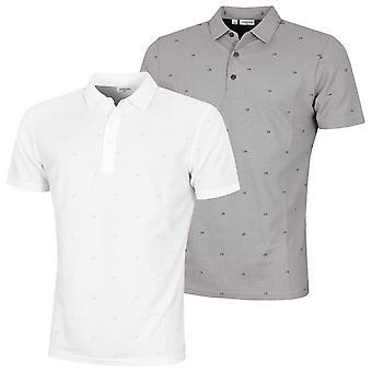 Calvin Klein Hombre Monogram Transpirable SmartTec UV 30+ Polo Camisa Polo