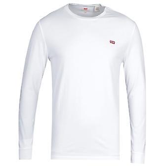 リーバイ&アポスオリジナルロングスリーブホワイトコットンTシャツ